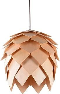 Pendant Lamp Creative Chandelier Kitchen Dining Room Restaurant Bar Wooden Pendant Lamp Indoor House Pinecone Hanging Lamp Fixtures Chandelier (Size : M)