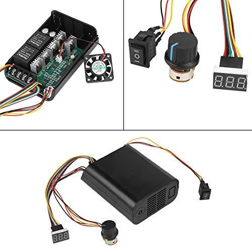 Controlador digital de velocidad del motor 40A DC Controlador de velocidad del motor Porcentaje de velocidad Circuito de control del circuito de conversión del ventilador de...