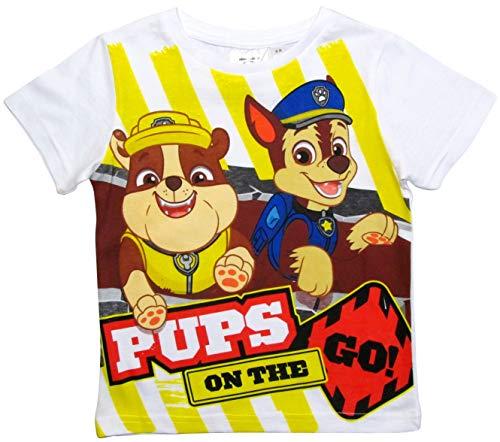 Paw Patrol - Helfer auf vier Pfoten N Paw Patrol - Helfer auf Vier Pfoten T-Shirt Jungen, 110, Weiß