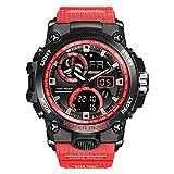 WNGJ Reloj electrónico Deportivo al Aire Libre Personalidad Luminosa Impermeable Personalidad Fresca Estudiante con cronógrafo Reloj cronógrafo Red