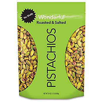 Wonderful Pistachios No Shells Roasted & Salted 24 Ounce Resealable Bag