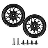 VGEBY RC Tire, RC Tire Wheel Axle Upgrade Replacement Compatible with W PL D12 RC Car Model(Black)