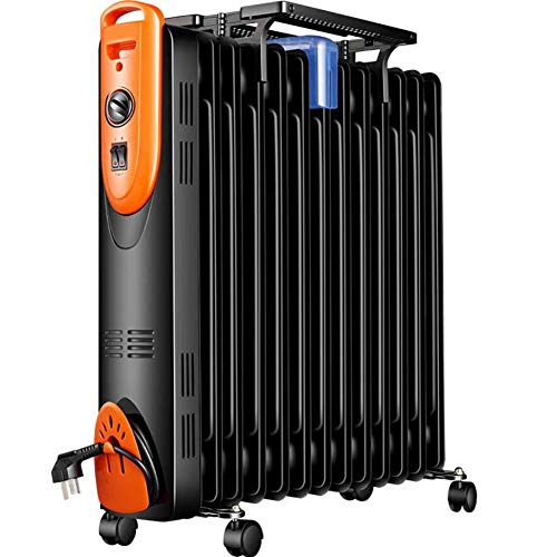 HKDJ Olieradiator, verwarming thuis, dump buiten spanning en temperatuurregeling met 2 snelheden, geluidsarm, eenvoudig te gebruiken, geschikt voor privégebruik