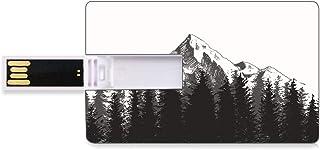 8 GB Unidades flash USB flash Primitivo Forma de tarjeta de crédito bancaria Clave comercial U Disco de almacenamiento Memory Stick Montaña con bosque de abetos y nativos americanos Flecha Figura folk