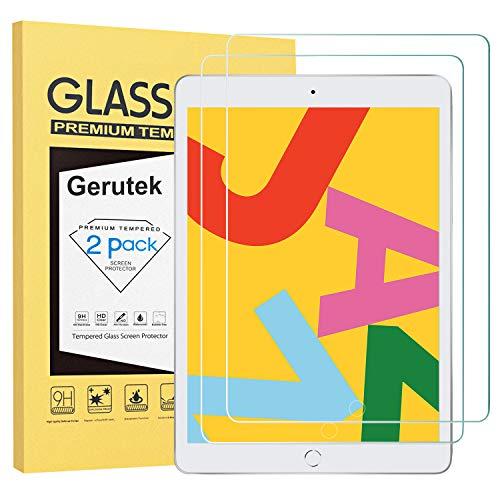 Gerutek [2 Stück] Schutzfolie für iPad 10.2 2019 (iPad 7. Generation), 9H Härte, 2.5D, Hülle Freundllich Anti-Kratzen, Anti-Bläschen Displayfolie Schutzglas Displayschutz Für Neues iPad 10.2 Zoll