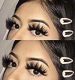 Full Shine Natural Soft Curl Fake Eyelashes One Pair #66 False Lashes 5D Real Mink Eyelashes Silk False Eyelashes Long 25MM Per Set False Eyelashes for Daily Makeup