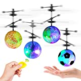 Flying Ball Toys,4 Pack LED RC Toy for Kids Boys Girls Adults Gifts Rechargeable Light Up Ball Hand Mini Drone Infrared Induction Helicopter Ball with 4 Remote Controller for Indoor and Outdoor Games