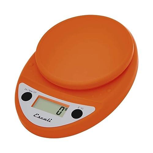 Escali Primo Lightweight Scale, Standard, Pumpkin Orange