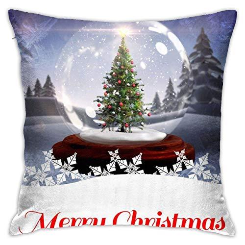 Throw Pillow Cover Cushion Cover Pillow Cases Decorative Linen Snow World for Home Bed Decor Pillowcase,45x45CM