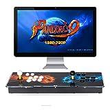 TAPDRA Pandora's Box 9 Joystick y Botones multijugador Arcade Console, Arcade Games Machines, 1500 Retro Video Games All in One, el Sistema más Nuevo con CPU Avanzada Compatible con HDMI y VGA