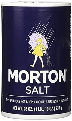 Morton Salt Regular Salt, 26 Oz, (Pack of 2)