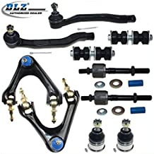 DLZ 10 Pcs Front Suspension Kit-2 Upper Control Arm Ball Joint Assembly 2 Lower Ball Joint 2 Outer 2 Inner Tie Rod End 2 Sway Bar Compatible with 1994-1997 Honda Accord 1997 1998 1999 Acura CL K90446