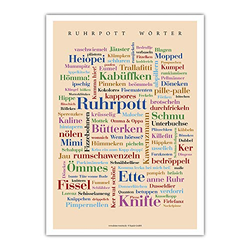 Mini-Poster Ruhrpott Wörter (DIN A4)