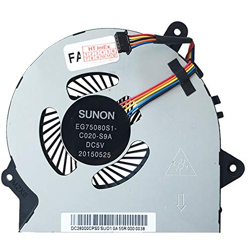 (Version 2) Lüfter Kühler Fan für Lenovo 300-15ISK (80Q700A8GE), 300-15ISK (80Q700ABGE), 300-15ISK (80Q700A9GE), 300-15ISK (80Q700ACGE), 300-15ISK (80Q700AAGE), 300-15ISK (80Q700V9GE)