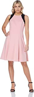 Women's Pink Contrast Skater Dress Sizes 10-20