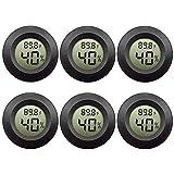EEEkit 6-Pack Hygrometer Thermometer Digital LCD Monitor Indoor Outdoor Humidity Meter Gauge for Humidifiers...