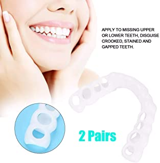 2組の完全な微笑のベニヤ義歯の歯の化粧品のステッカーは分以内に家であなたの微笑を修理します