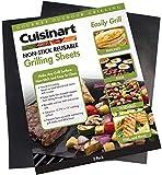 Cuisinart CNGS-1613 Non-Stick Reusable Grilling Sheets, Black