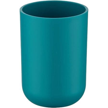 Wenko 21223100 Gobelet à Dents Brasil Bleu pétrole, Plastique, Turquoise, 7,3 x 7,3 x 10,3 cm