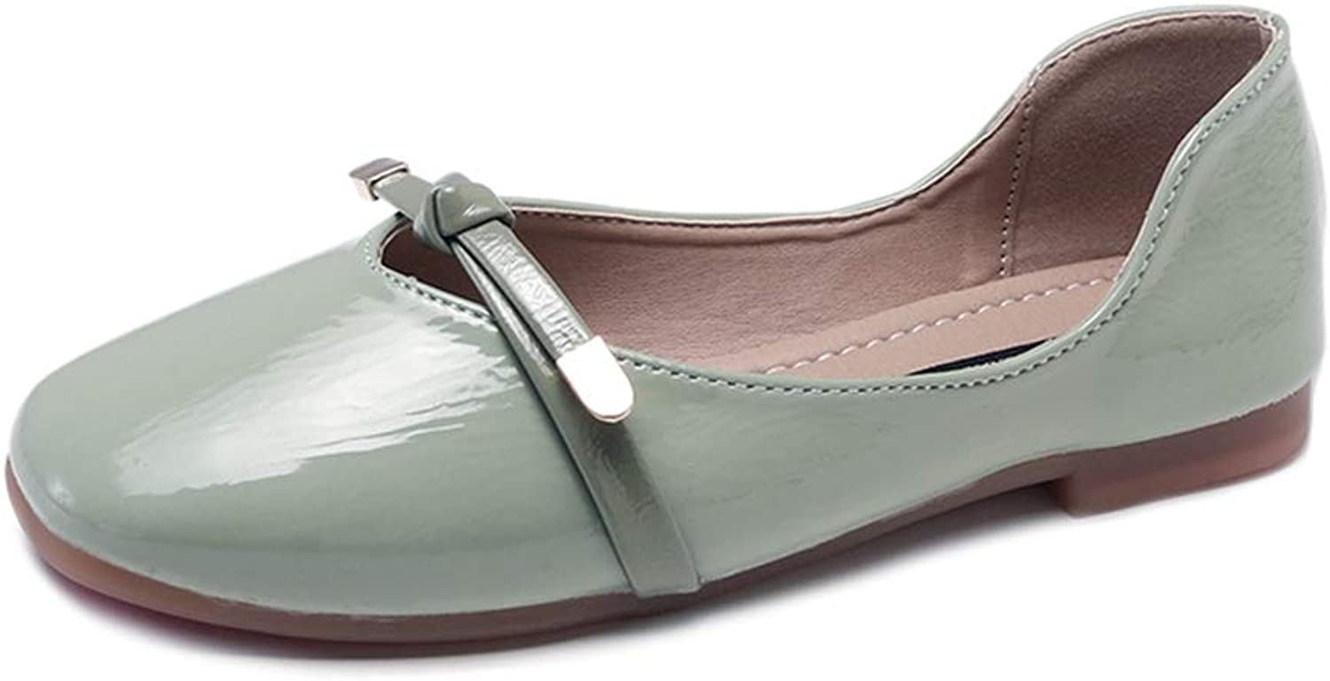 Kyle Walsh Pa Women Flats Patent Leather Slip on Flat shoes Mary Janes Boat Dress shoes Sweet Ballet Flats shoes