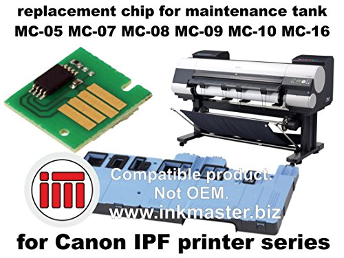 Ink Master - Replacement chip for maintenance tank CANON IPF MC CHIP for Canon IPF 500 510 600 605 610 650 655 670 680 700 710 720 750 755 760 765 770 780 810 815 820 825 830 840 850 5000 5100 6000S 6100 6200 6300 6350 6400 6400SE 6450 8000 8000S 8100 8300 8300S