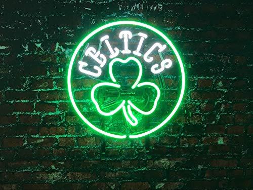 Queen Sense 20'x20' Boston Celtic Neon Sign (VariousSizes) Beer Bar Pub Man Cave Business Glass Lamp Light DC435