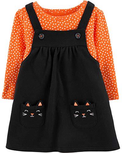 Carter's Baby Girls' 2 Piece Halloween Cat Bodysuit and Jumper Set