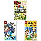 New Super Mario Bros. U Deluxe + Super Mario Maker 2 + Pokémon Espada (Nintendo Switch)
