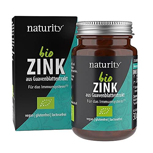 BIO ZINK, hochdosiertes, natürliches Zink zur Unterstützung von Immunsystem, Knochen, Haut und Haaren, aus Guavenblättern, vegan (60 Tabletten)