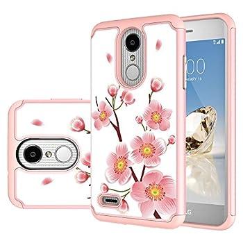 M MAIKEZI for LG Zone 4 Case,LG Aristo 3/Phoenix 4/Rebel 4/Aristo 2/Aristo 2 Plus/Tribute Dynasty/K8 2018/Fortune 2/Rebel 3/K8 Plus/LG Tribute Empire Dual Layer Phone Case Cover Rose Gold