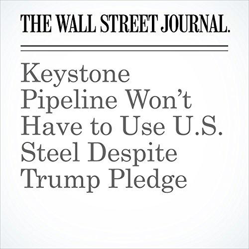 Keystone Pipeline Won't Have to Use U.S. Steel Despite Trump Pledge copertina