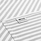 FILU Servietten 8er Pack Grau/Weiß gestreift (Farbe und Design wählbar) 45 x 45 cm - Stoffserviette aus 100% Baumwolle im skandinavischen Landhausstil - 5