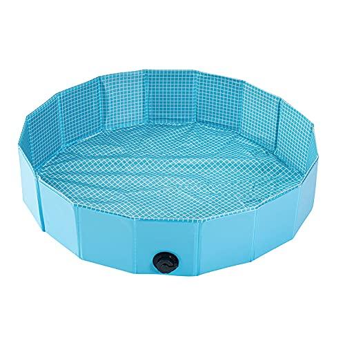 DPGPLP Piscina para Perros Plegable, Piscina para niños con Patines, para Que los niños y Mascotas jueguen en el Agua, bañera para Perros, jardín, terraza, baño,120 * 30cm