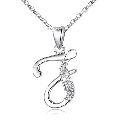 Sterling Silver initiale//lettre B charme avec Boîte Chaîne Collier