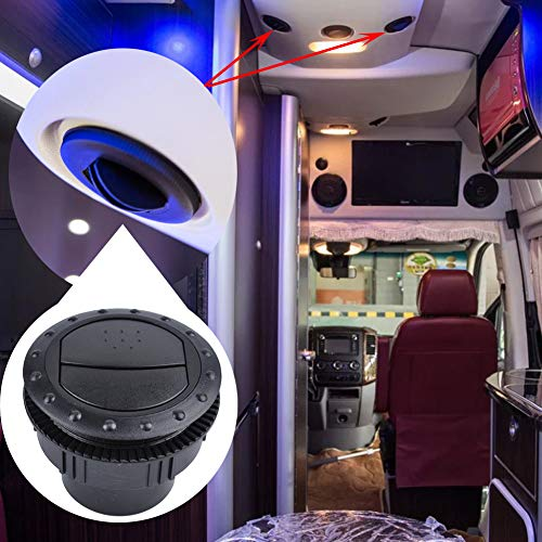 RONSHIN auto 60 mm Vent luchtuitlaat roterende interieur ronde plafond voor auto RV ATV A/C A0676-01 Zwart