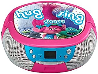 Trolls DreamWorks Hug Sing Dance CD Player Stereo Boombox with AM/FM Radio