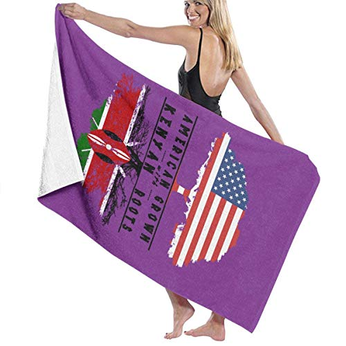 Toallas de Playa American Grown with Kenyan Roots Toallas de baño para Adolescentes y Adultos Toalla de Viaje Toalla 31x51 Inches