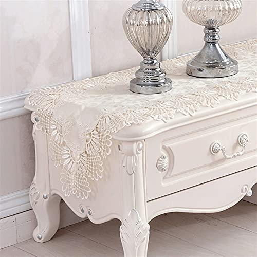 Runner da tavola chic in pizzo bianco per la primavera estate classica decorazione di nozze decorazione di nozze baby wedding decor (dimensioni: 40 x 90 cm)