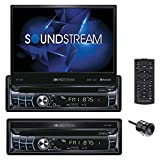 Soundstream VR-720B Multimedia Receiver/Single DIN, 7' in-Dash Flip Up DVD, with Bluetooth