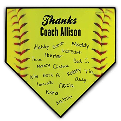 Softball Coach Home Plate Plaque