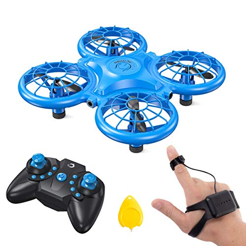 Dragon Touch DK01 Mini Drones for Kids, Multiple Remote Controls-Hand Operated RC Quadcopter, G-Sensor Mode, 3D Flips, Altitude Hold, Headless Mode, One Key Return&Speed Adjustment