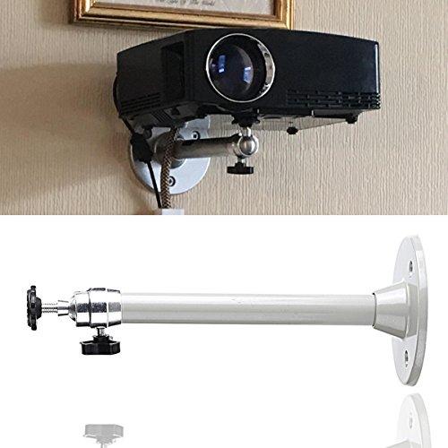LANTWOO Small Projector Wall Ceiling Mount Hanger, LCD/DLP Video Projection Mount Bracket Swivels & Tilts For Mini Projector, 11 lbs Load