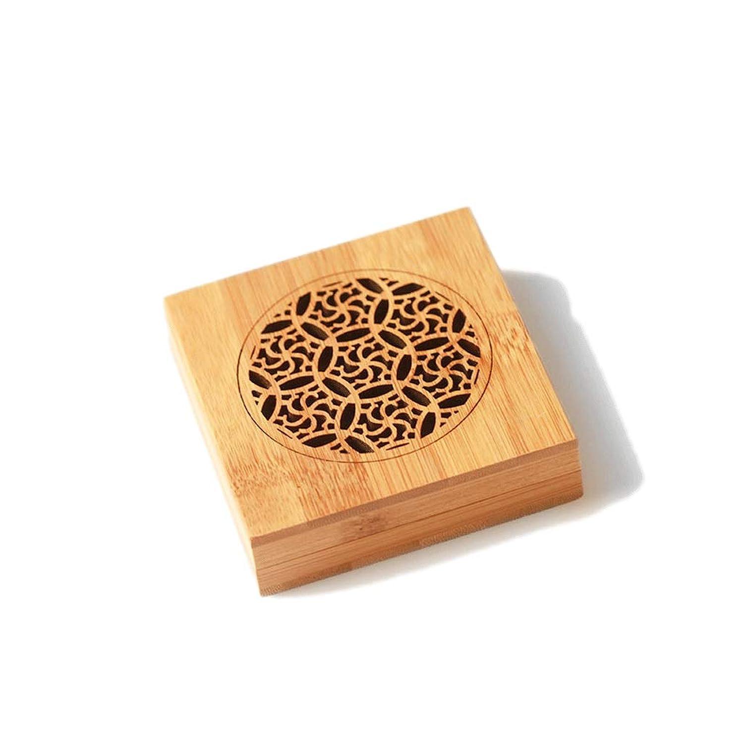 バンフルーツ野菜副竹の香バーナーコイルの香バーナー部屋の装飾瞑想竹の香り天然素材香ホルダー 芳香器?アロマバーナー (Color : WOOD, サイズ : Square)