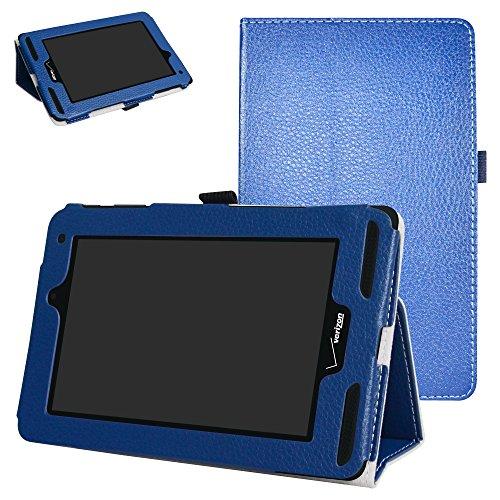 Mama Mouth for Verizon Ellipsis 7 4g LTE Case,Slim Folio 2-Folding Stand Case Cover for 7 Verizon Ellipsis 7 4g LTE Tablet,Dark Blue