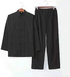 LCZ Homme Vent Chinois - Traditionnel Wushu Kung Fu Tai Chi, Arts Martiaux Pantalon d'uniforme Formation Costume Classique...