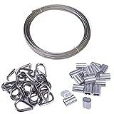 Muzata Cable Railing Kit Set Includes 1/16 inch T316...
