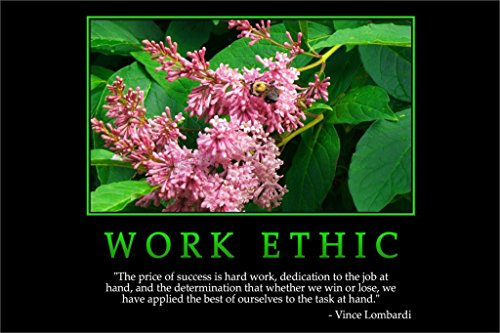 Work Ethic Vince Lombardi Motivational Poster Home Decorative Painting Wall Poster Picture for Gift 20x30Inch