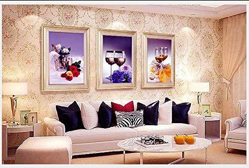 Diamant Schilderij Verf Door Aantal DIY 5D Kunst Ambachtelijke Strass Borduren Grote Afbeeldingen Cross Stitch Kits Volledige Boor Voor Thuis Muurdecoratie 3 Foto Eettafel Wijnglazen