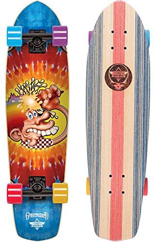 Dusters DUSCOCR039 Komplett Skateboard Cruiser, Ice Cream Tie Dye 31 Zoll