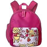 Zaini Kids Backpack Happy Winnie The Pooh Printed School Bag Children Bookbag for Girls Boys